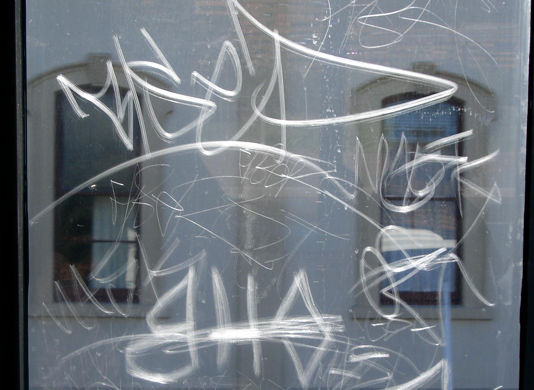 anti-graffiti-window-film-scratches Film in San Francisco